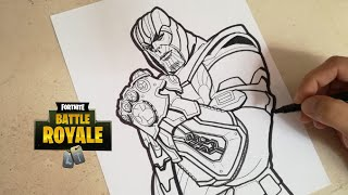 COMO DIBUJAR A THANOS DE FORTNITE | how to draw thanos - fortnite | CunsArt