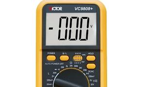Ремонт цифрового тестера мультиметра VC9808+ Victor