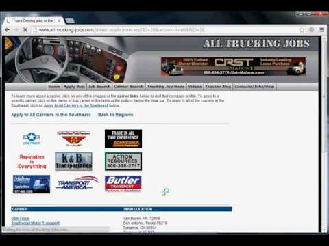 How To Best Complete Your Trucking Job Application