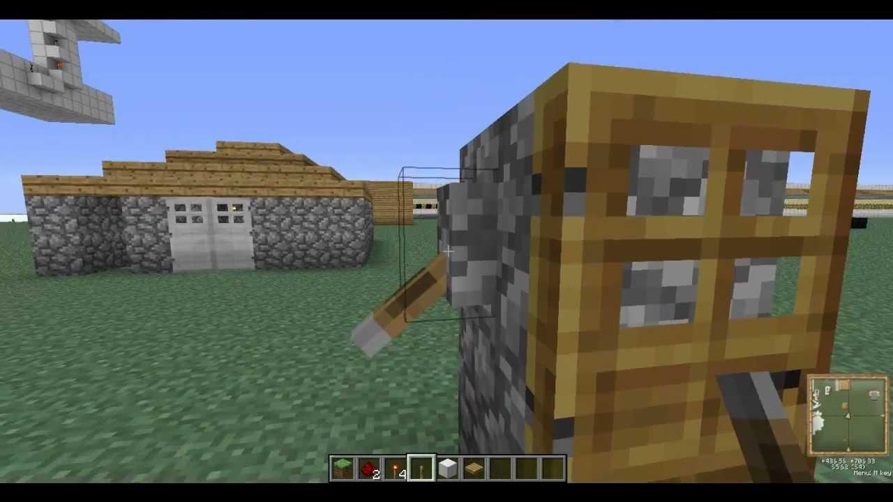 minecraft como abrir un puerta con 2 palancas puertas