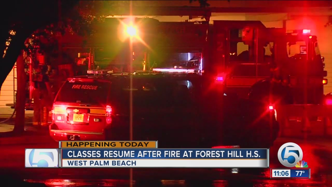 classes resume after fire at forest hill high school