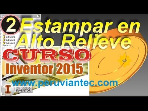 CURSO INVENTOR 2015 - 02 Cómo Estampar Texto en Alto Relieve - ...