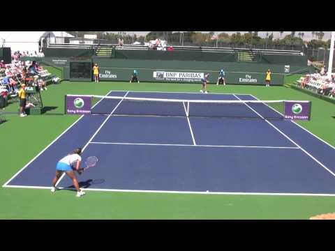 Wimbledon Champion Petra Kvitova at Indian Wells 2011