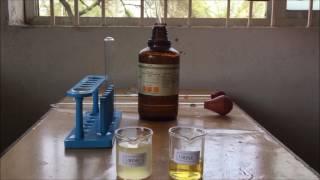 Identification test for  Albumin in Urine- Sulfosalicylic Acid and Nitric Acid. Hindi