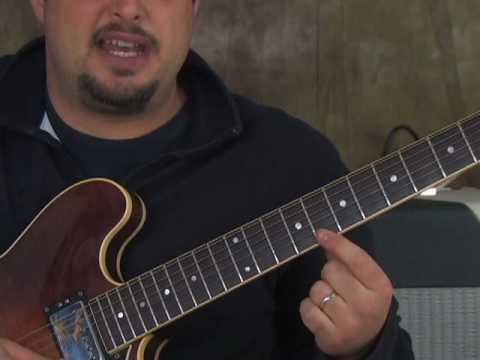 Blues Guitar Solo Lesson - Double Stop Lead Guitar Lesson with Bluesy Embellishments