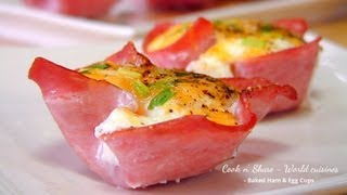 Baked Ham & Egg Cups
