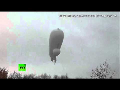 UFO Over US? No, Merely A Lost Pentagon Surveillance Blimp