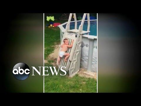 New Pool Safety Warning!  See Toddler Climb Safety Ladder to Pool!
