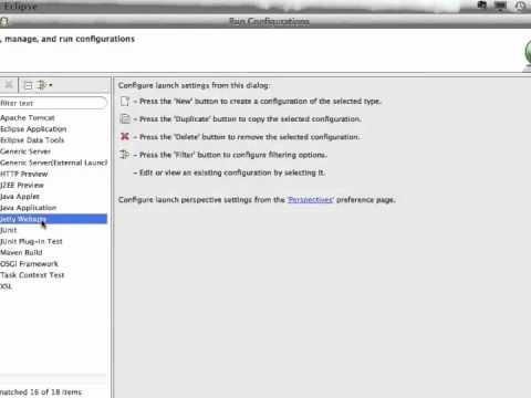Running a webapp on Jetty - Eclipse IDE