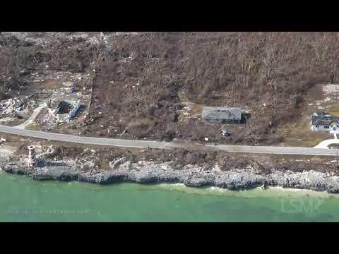 9-8-2019 Grand Bahama Island, Raw Helicopter Video Of Hurricane Dorian Destruction