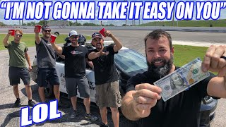 "WILD 1000WHP Cop Car, $100, 4 Full Cups of Ice Water ""DON'T SPILL"" Challenge!"