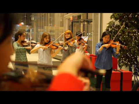 Flash Mob at the Bank of America Tower - CMC @ NYC - Chamber Music at Its Best!