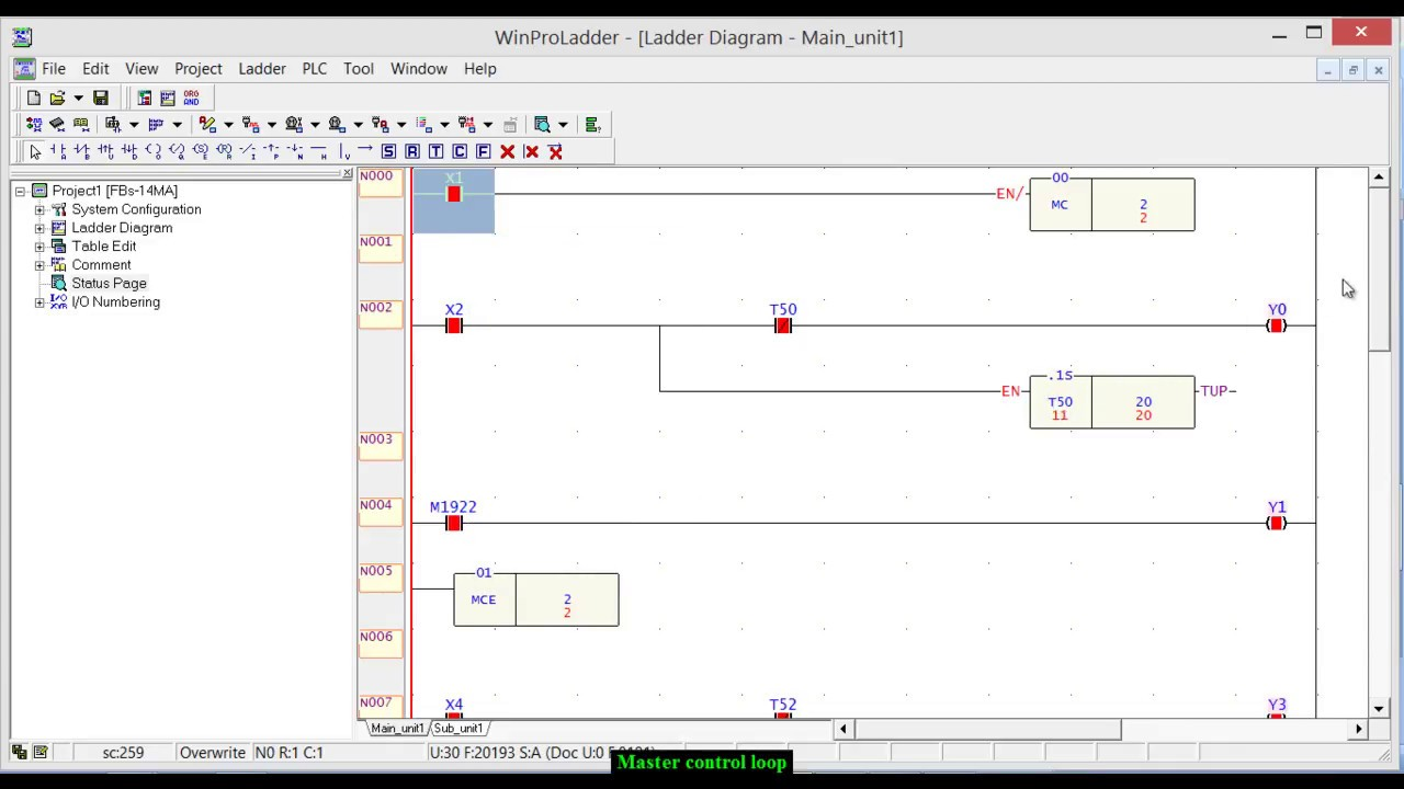 Plc Ladder Logic Programming Tutorial 15 Master Control Loop Mc Training For Dummies And Mce