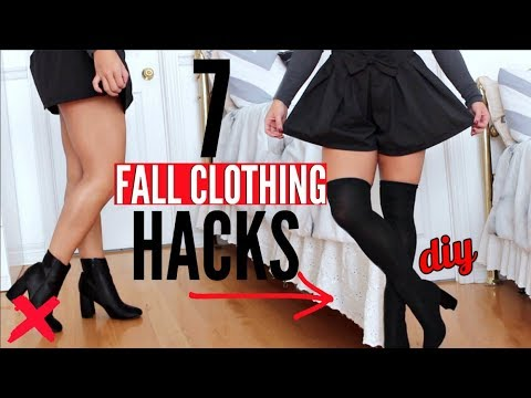 7 Fall Clothing Hacks EVERY Girl Must Know !