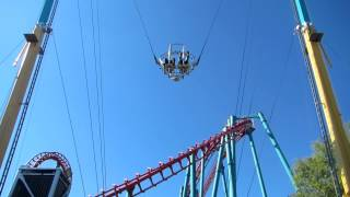 Sling Shot Ride (Reverse Bungee) in Denver Elitch Garden