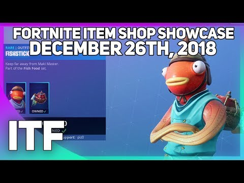 Fortnite Item Shop *NEW* FISH SKIN!? [December 26th, 2018] (Fortnite Battle Royale)
