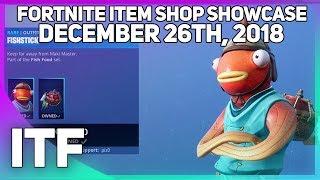 Fortnite Item Shop *NEW* FISH SKIN!? [December 26th, 2018] (Fortnite Battle Royale)
