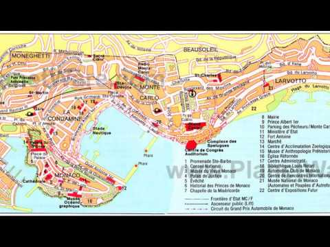 monte carlo monaco map YouTube