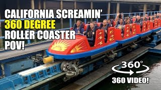 California Screamin' 360 Degree Roller Coaster POV Disneyland California - Filmed w/ Giroptic 360