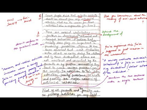 Only Society Should be Blamed for Anti Social Activities IELTS Essay Correction ELTEC