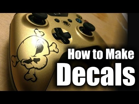 How to Make Decals and Clearcoat Them - XBOX One Controllers - HD