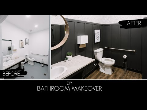 WEEKEND BATHROOM MAKEOVER | Two Hair Salon Bathrooms In FOUR Days!