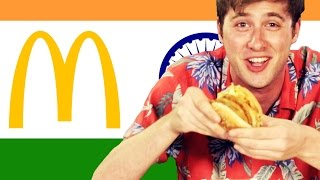 Repeat youtube video Americans Try Indian McDonald's