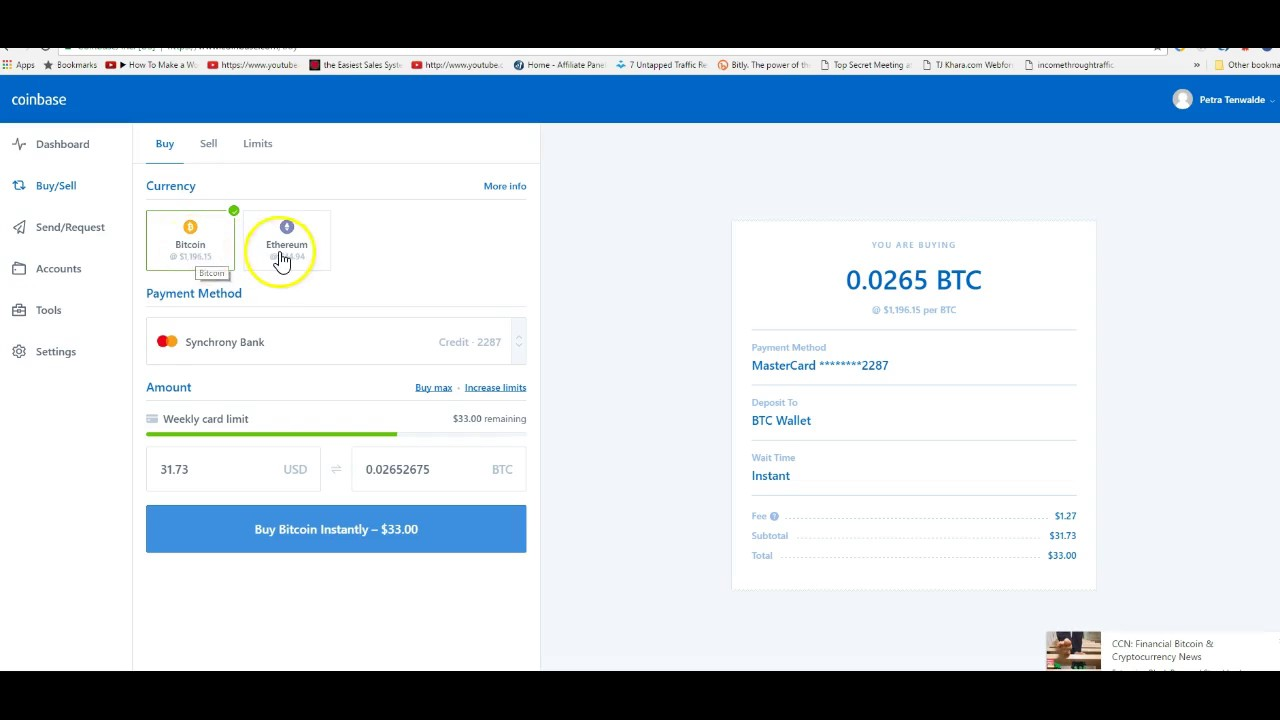 How to buy bitcoin coinbase youtube how to buy bitcoin coinbase ccuart Images