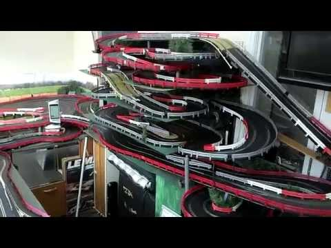 321ft Scalextric Digital Slotcar Track (3 layouts in 1) (3m x 2m)