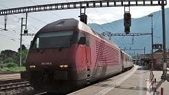 Martigny - Re 460 (Lok) mit IR - Saint-Bernard Express - RegionAlps - Stadtbilder