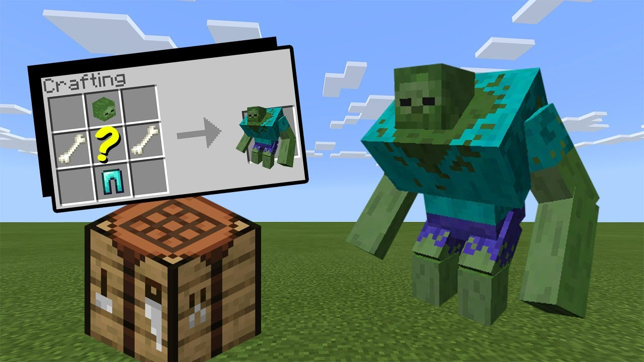 How to Craft a Mutant Zombie - Minecraft - YouTube