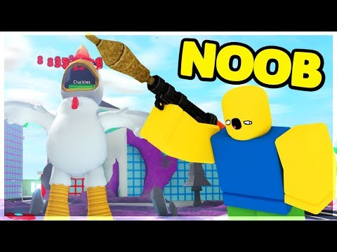 Helping My Dad *NOOB* Get The Banshee By DEFEATING The CHICKEN BOSS | Roblox: Mad City Update