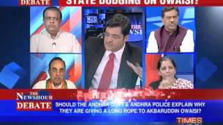 Dr Subramanian Swamy on Times now debate about Akbaruddin Owaisi