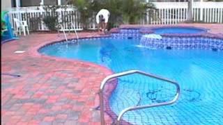 Kid Safe Pool Net Operation