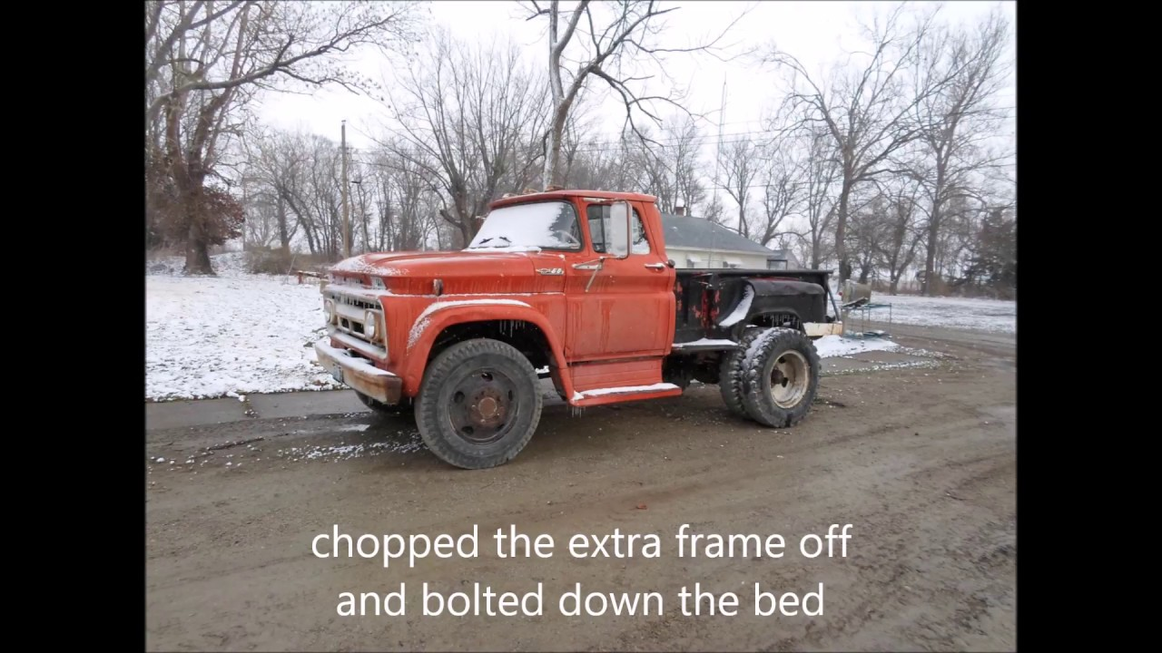 1962 Chevy C60 Grain Truck To Pickup Conversion Youtube