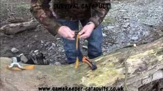HOW TO MAKE A SURVIVAL SLINGSHOT / CATAPULT. GAMEKEEPER CATAPULTS
