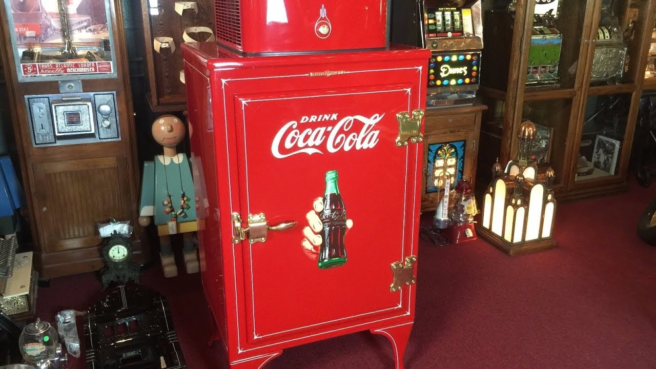 1930's General Electric COKE Refrigerator Cooler SOLD