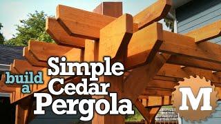 Build a Simple Cedar Pergola