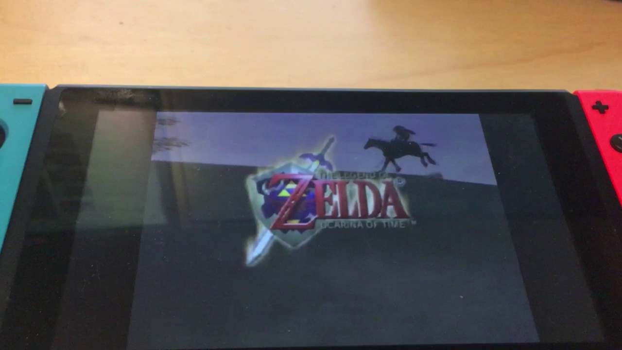 Nintendo Switch playing n64 Zelda Ocarina Of Time - Already HACKED