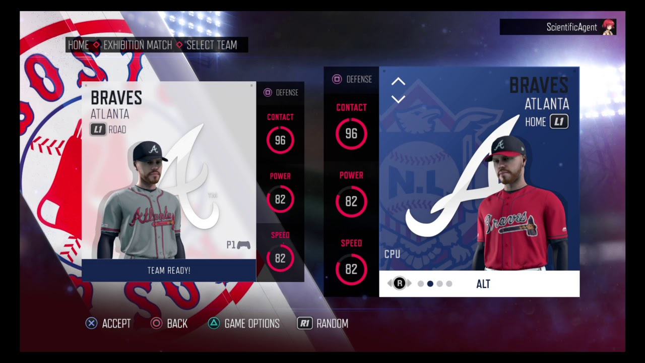 new concept a8bb5 faa81 RBI Baseball 19 - Atlanta Braves Uniforms - All Franchise History Home  Uniforms & All Teams Rating