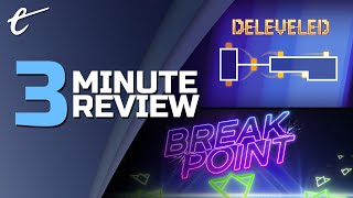 Deleveled & Breakpoint | Review in 3 Minutes (Video Game Video Review)