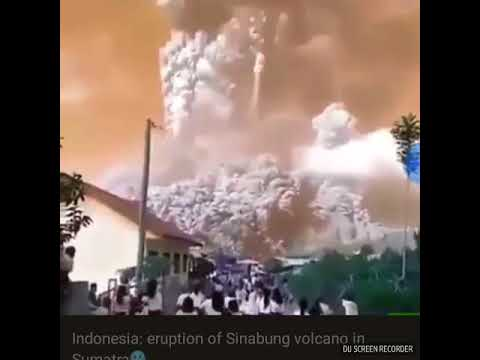 IRRUPTION OF VOLCANO IN SUMATRA!!!😱😱😱😱DEATHS!!LIVE REPORT