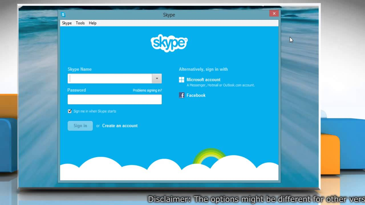Change the idle time after Skype® online status changes to 'Away'