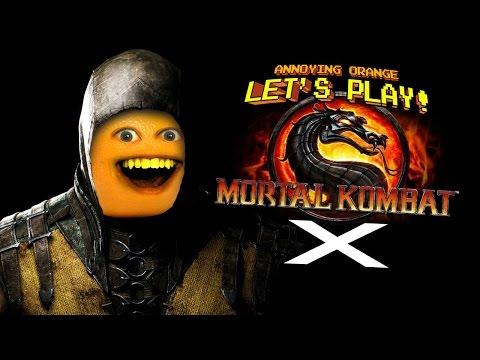 Annoying Orange Let's Play Mortal Kombat X for iOS!
