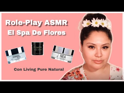 ASMR │Spa De Flores │Role-Play De Esteticista │Living Pure Natural 🌺