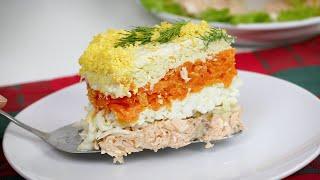 Идеальный РЕЦЕПТ! Салат МИМОЗА!!! Ещё вкуснее и полезнее! Популярный слоеный салат на Новый Год.