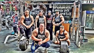 CT FLETCHER and the STRENGTH CARTEL HEAVY HITTERS banging it out at IRON ADDICTS GYM