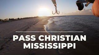 Wade fishing the beach in Pass Christian, MS