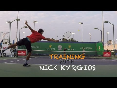 Training With Nick Kyrgios | Rolex Shanghai Masters 2018 (TENFITMEN)