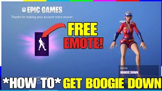 'COMMENT TO' GET BOOGIE DOWN EMOTE! GRATUIT EMOTE FORTNITE SEASON 5 (TUTORIAL)